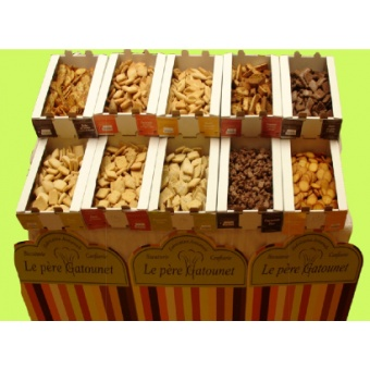 Tuiles noisettes et pépites de chocolat (2 kg)