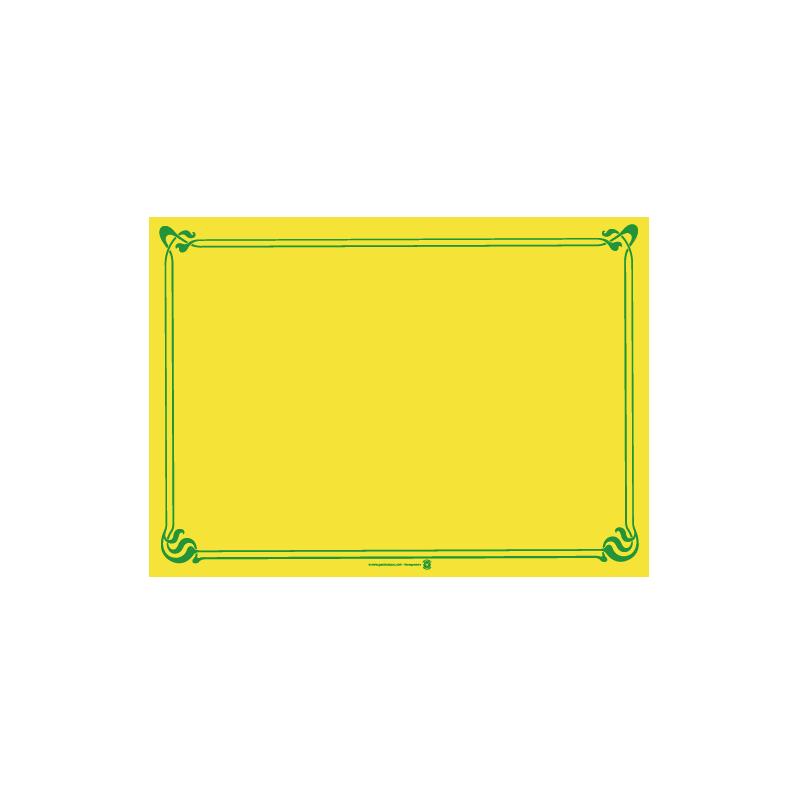 Fournisseur set de table jaune vif for Set de table jaune